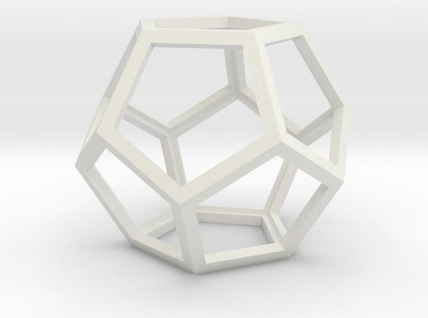 Dodeca12 in White Natural Versatile Plastic