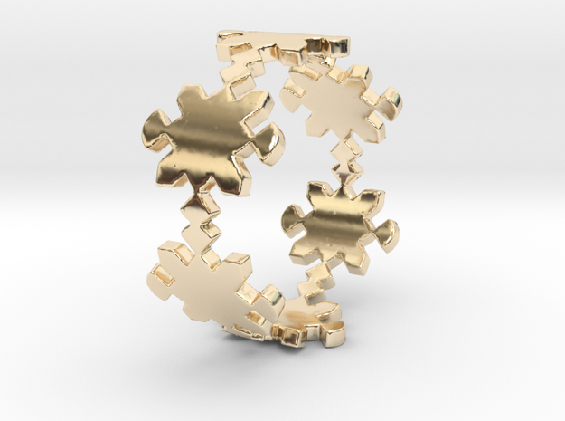 Square Ring (Size 8) in 14k Gold Plated Brass