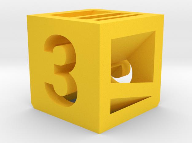 Photogrammatic Target Cube 3 in Yellow Processed Versatile Plastic