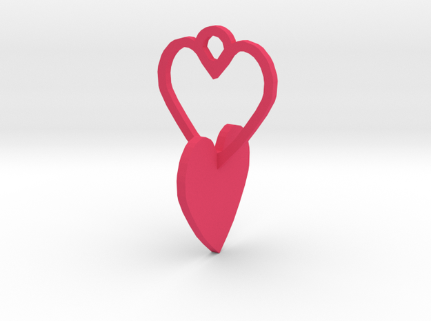 heart to connect with heart of the ring in Pink Processed Versatile Plastic