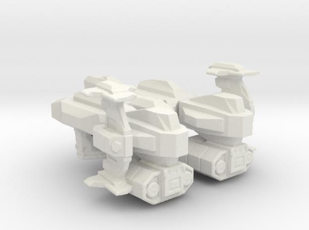 Equinemur Lion in White Natural Versatile Plastic