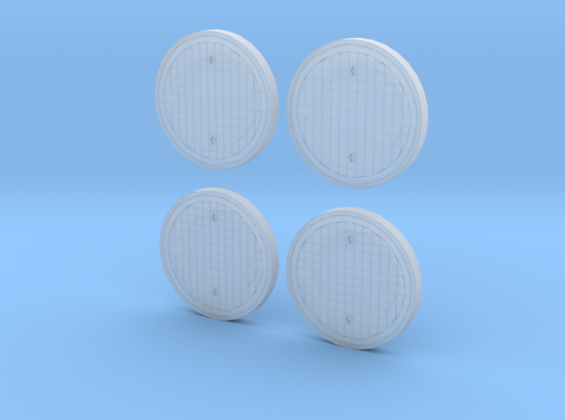 1:43 0 scale road drain type B (4 pcs set ) 3d printed
