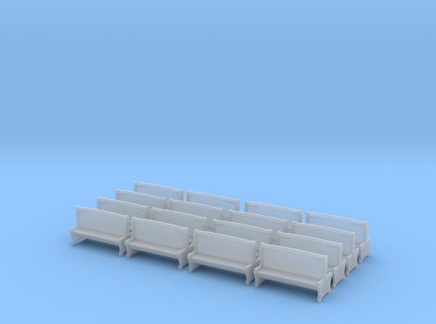 Bench type A - H0 ( 1:87 scale )16 Pcs set  3d printed