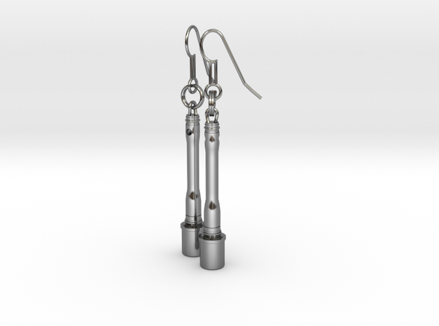 German hand granade - Earrings 3d printed