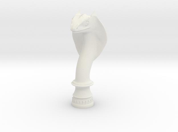 Snake 5cm in White Natural Versatile Plastic