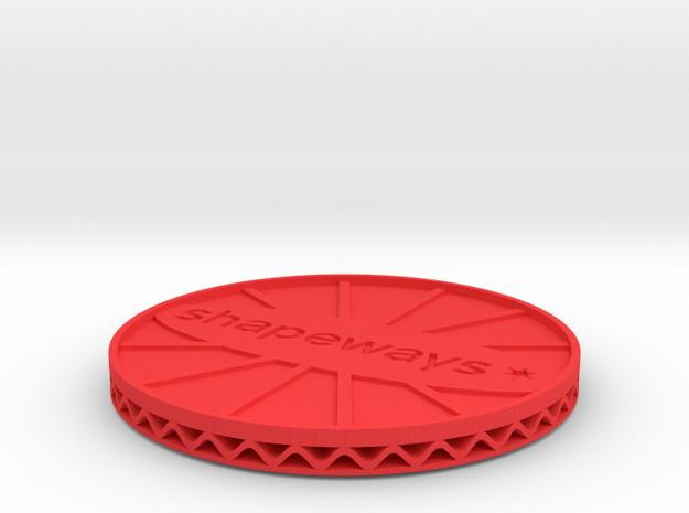 ^coaster shapeways 3d printed Shapeways Render - Red Strong & Flexible Polished