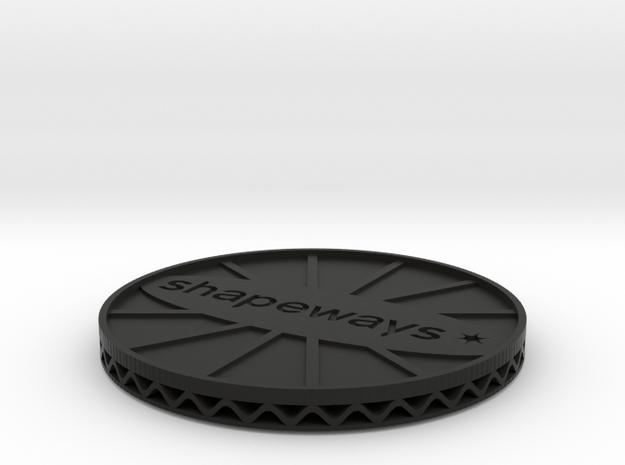 ^coaster shapeways 3d printed Shapeways Render - Black Strong & Flexible