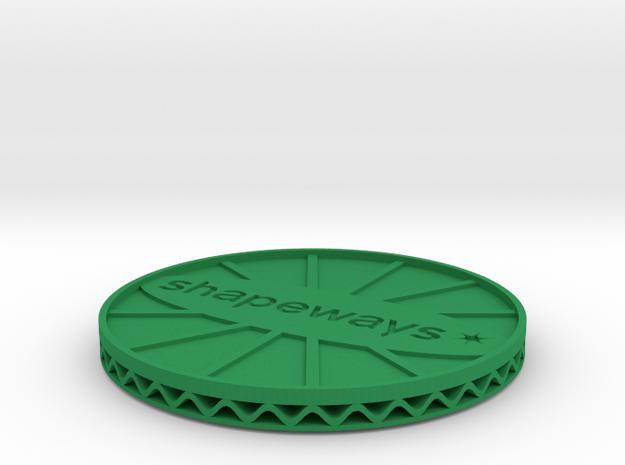 ^coaster shapeways 3d printed Shapeways Render - Green Strong & Flexible Polished