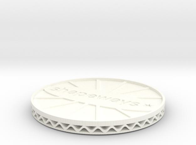 ^coaster shapeways 3d printed Shapeways Render - White Strong & Flexible Polished