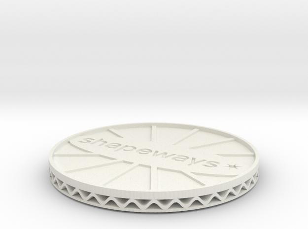 ^coaster shapeways 3d printed Shapeways Render - White Strong & Flexible