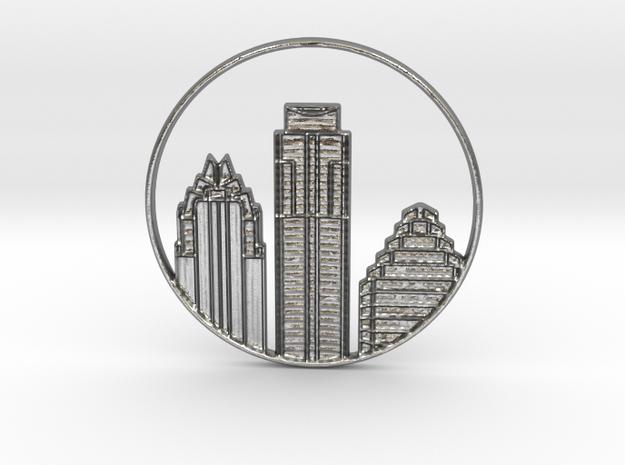 Austin Pendant in Natural Silver