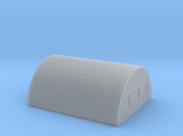 Nissen Hut 24ft Span 5 Bay N Gauge Brick Ends in Smooth Fine Detail Plastic