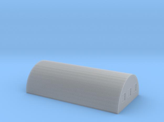 Nissen Hut 24ft Span 8 Bay N Gauge Brick Ends in Smooth Fine Detail Plastic