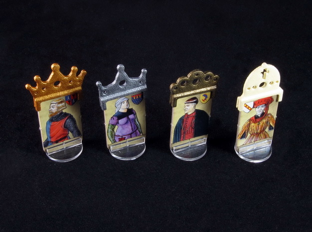 Fief - King etc. markers (4pcs)