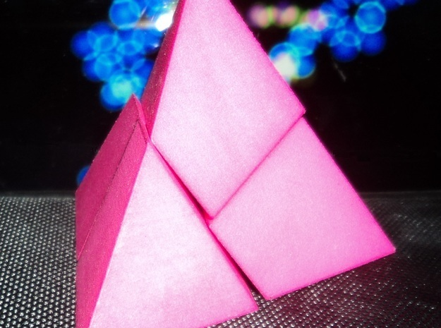4 Pieces pyramid puzzle designed for grabability in Pink Processed Versatile Plastic