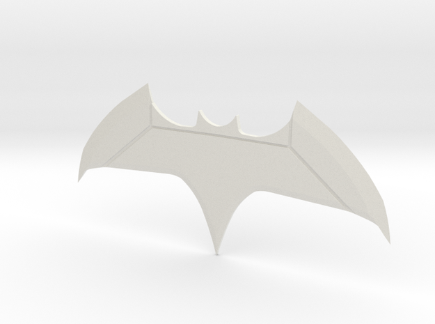 Justice League Batman Batarang  in White Natural Versatile Plastic