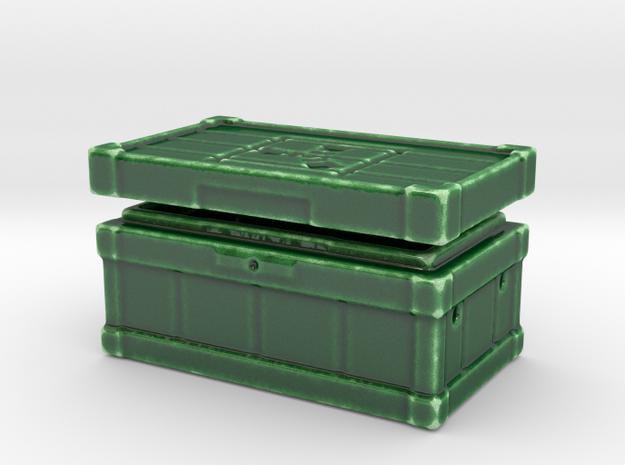 Small Box Procelain in Gloss Oribe Green Porcelain