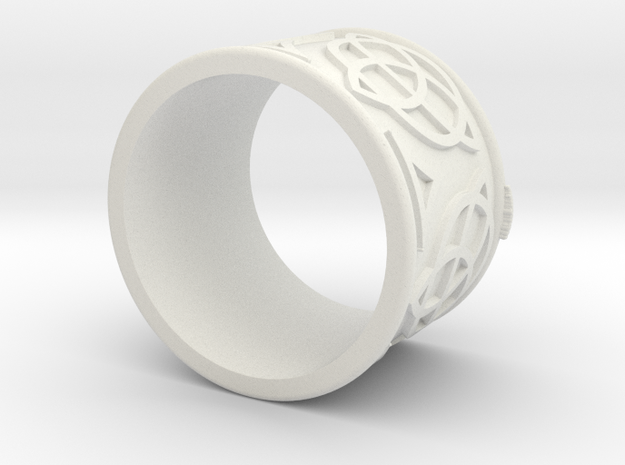 Celtic Ring Bene in White Natural Versatile Plastic