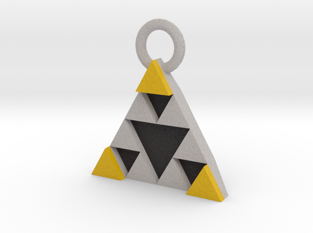 DeusEx Pendant V1 3,5cm full version in Full Color Sandstone