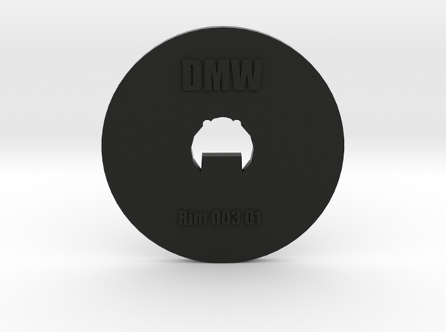 Clay Extruder Die: Rim 003 01 in Black Natural Versatile Plastic