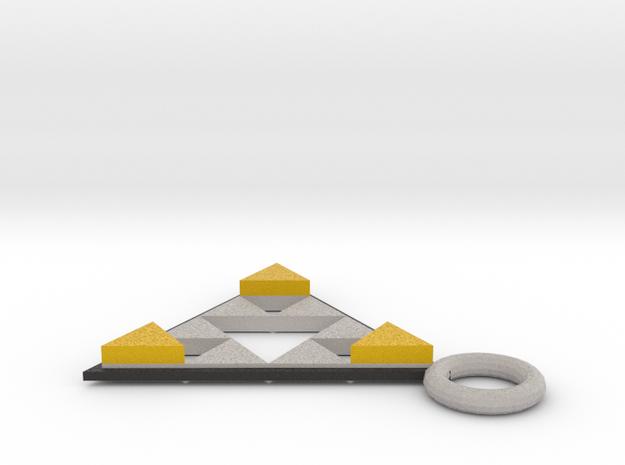 DeusEx Pendant V2 singlesided Hollow in Full Color Sandstone