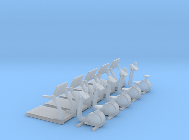N Scale Fitness Equipment 10pc