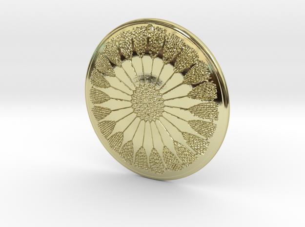 Asterolampra eximia pendant ~ 35mm (1 1/3 inch) 3d printed