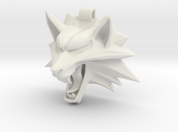 The Witcher's Medallion in White Natural Versatile Plastic