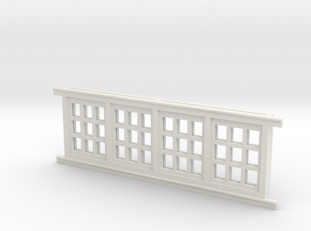 Red Barn Window Section 3x3 White in White Natural Versatile Plastic