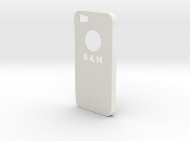 IPhone 5c Case in White Natural Versatile Plastic