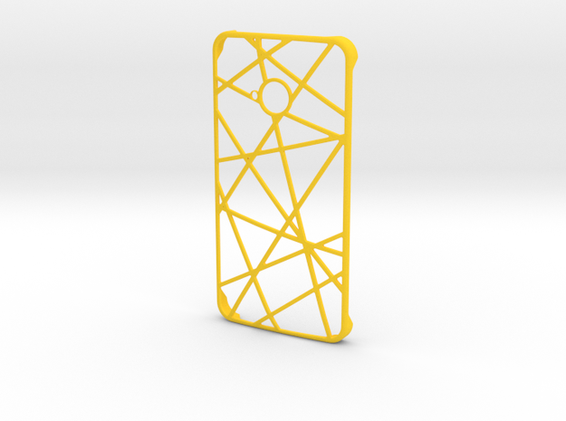 Htc One Case in Yellow Processed Versatile Plastic