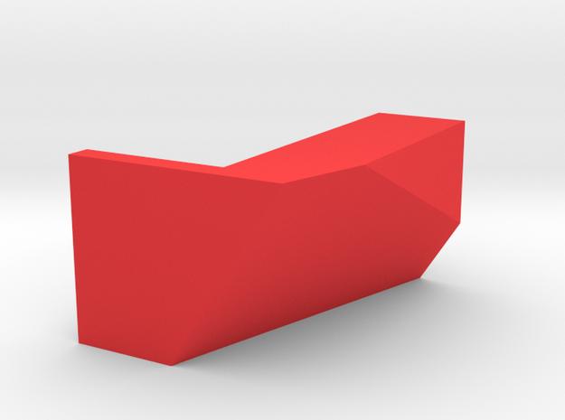 Kartenhalter 001 Eckig in Red Strong & Flexible Polished