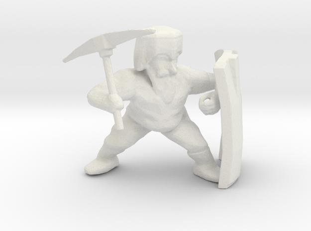 Dwarf Miner in White Natural Versatile Plastic