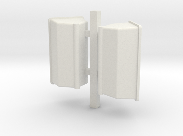 2 fertilizer boxes 1/64 in White Natural Versatile Plastic
