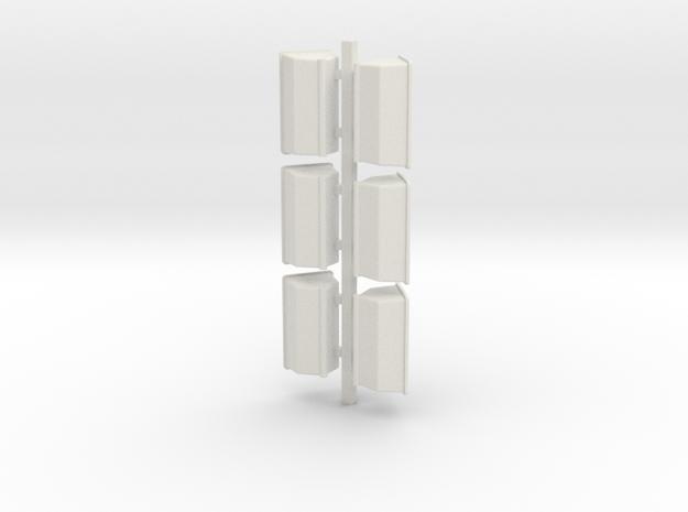 6 Fert Boxes in White Natural Versatile Plastic