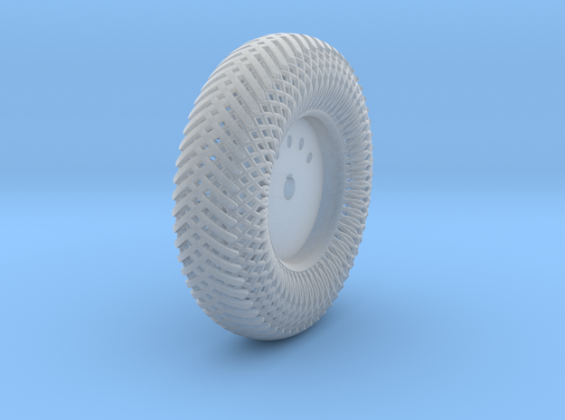 08B2-Back-Left Meshed Wheel in Smooth Fine Detail Plastic