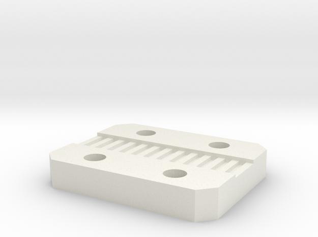 X Carriage Belt Clip in White Natural Versatile Plastic
