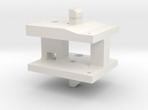 Z Carriage Tensioner Side in White Natural Versatile Plastic