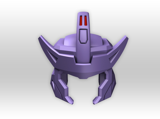 G1 Styled Helm for TR Galvatron in Purple Processed Versatile Plastic