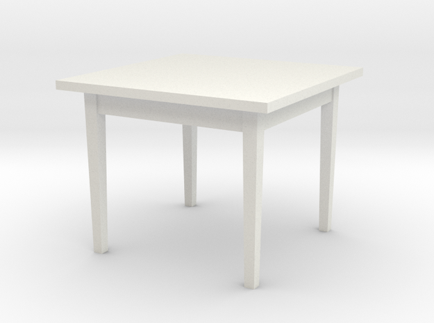 1:48 38x38x30 Table (not full size) in White Natural Versatile Plastic