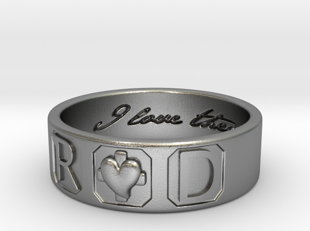 R and D Ring Size 11 in Natural Silver