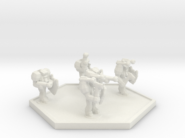 UWN Peacekeeper Enforcer Squad (Hex) in White Natural Versatile Plastic
