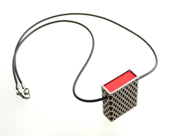 Matchbox Pendant - exterior metal only 3d printed