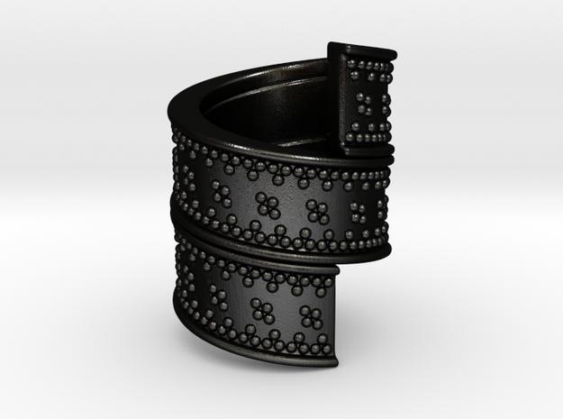 Beard Ring in Matte Black Steel