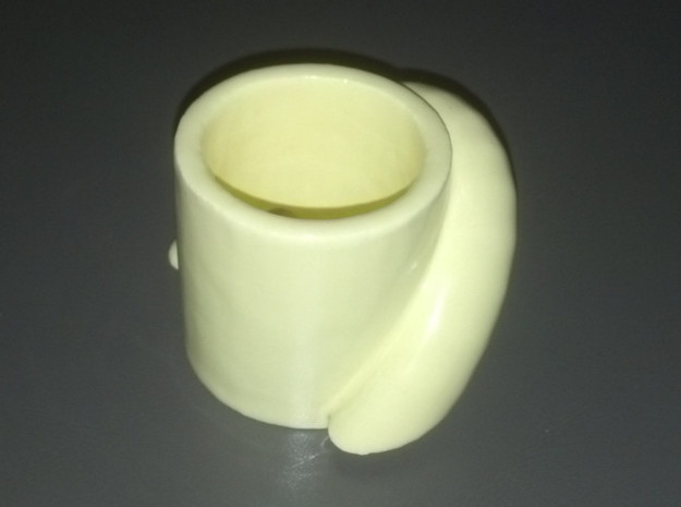 pythagoras cup 3d printed Printed in yellow ceramic