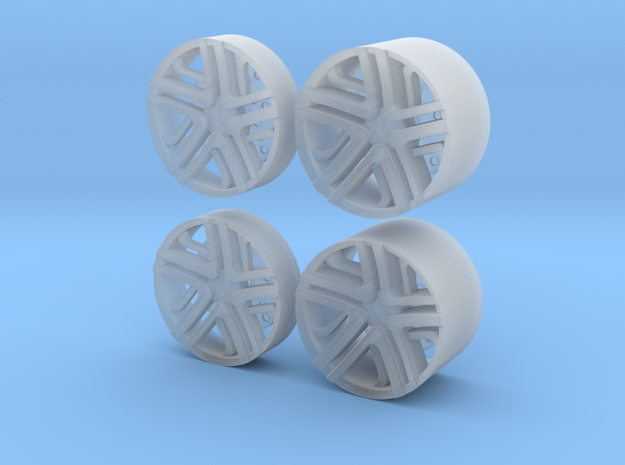 LC Rims - Inserts for Slot Car rims in Smooth Fine Detail Plastic