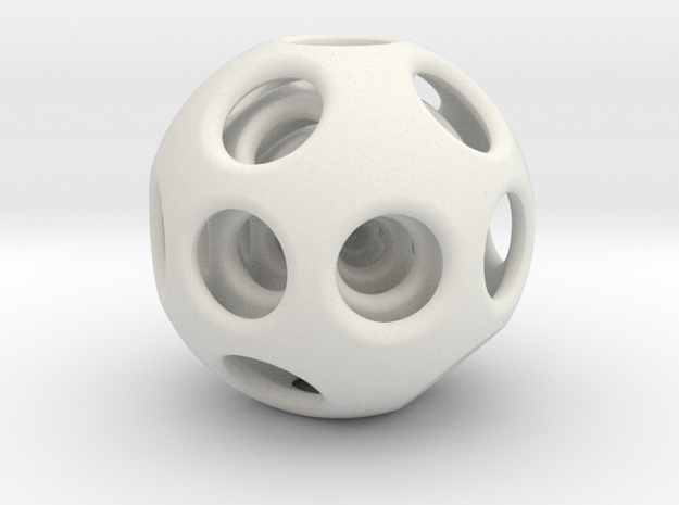 Nested Sphere in White Natural Versatile Plastic