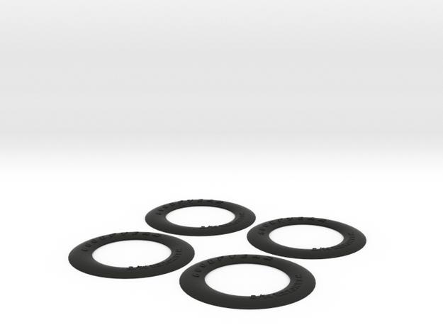 1:6 scale Hasbro HMMWV Tire Insert in Black Natural Versatile Plastic