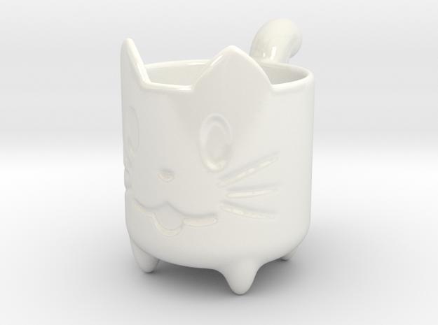 Kitty Cat Mug! in Gloss White Porcelain