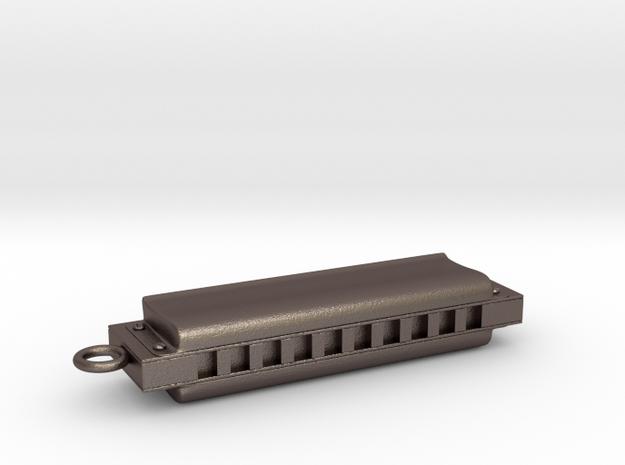 Harmonica Pendant - Metal - Custom text in Stainless Steel